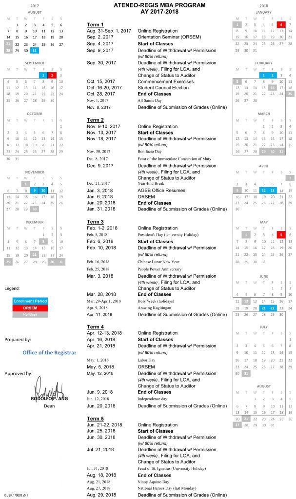 Academic Calendar 2017-2018 v5