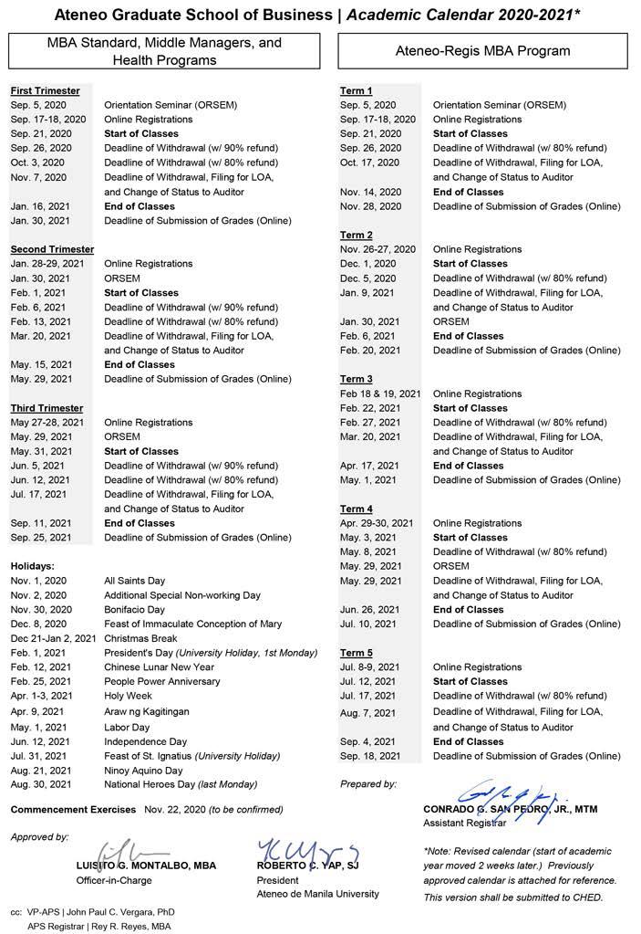 AGSB Academic Calendar 2020-2021 (revised v2_9820)